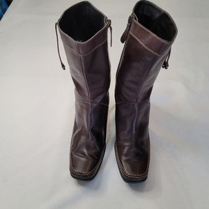 Me Too Maggi Leather Upper Brown Boots in 9